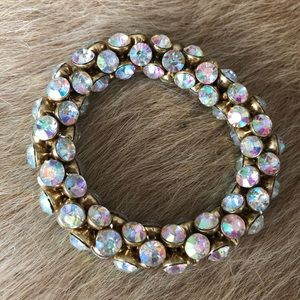Iridescent crystal bracelet jcrew
